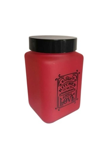Herevin Herevin 146357-121 Mat Kırmızı Boyalı Kavanoz 425Cc Renkli